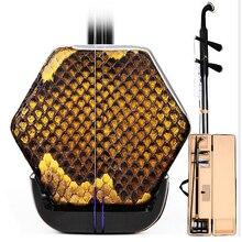 Китайский эрху Erheen два Струны для скрипки скрипка струнные Музыкальные инструменты из цельного дерева со стильным бантиком чехол Аксессуа...