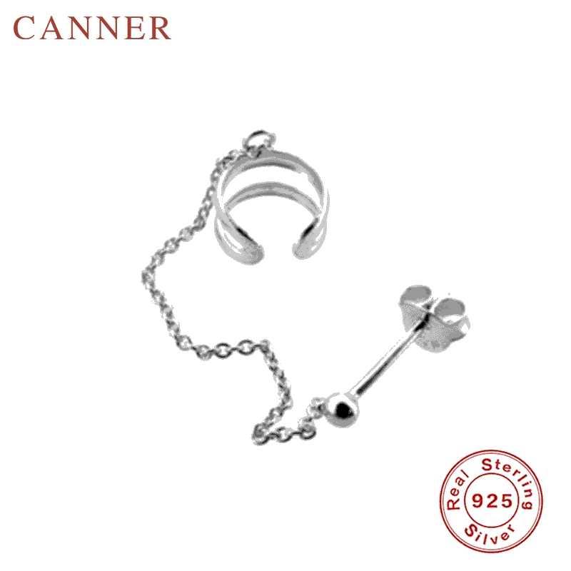 Mode 925 Sterling Silber Kette Stud Ohrringe für Frauen 1 stücke Quaste Clip auf Ohrringe Ohrringe Schmuck Dropshipping