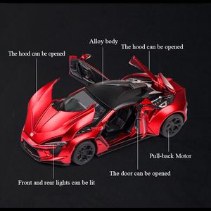 Image 5 - 1:32 Lykan Hypersport Alloy Car Model Diecasts & Toy Vehicles Toy Car Metal Collection Toy Kid Toys for Children Kids Gifts