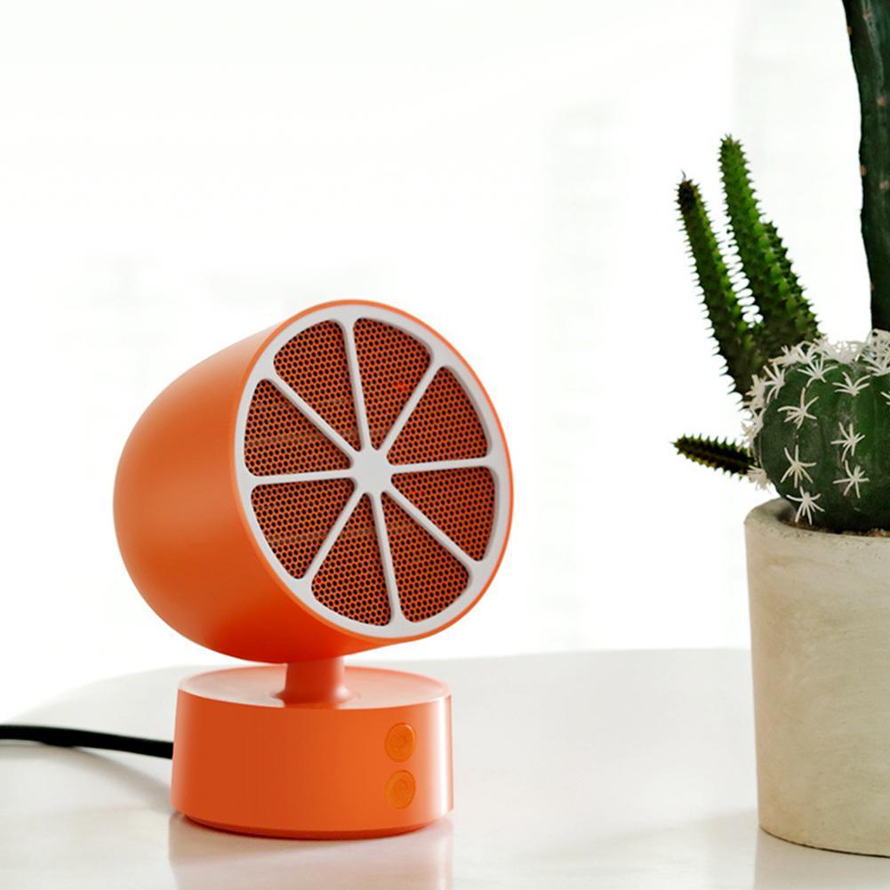 Lemon Shape Electric Mini Fan Heater Desktop Office Winter Rotary Warmer Machine
