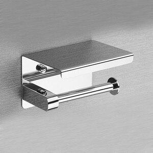 Image 3 - Rovogo sus 304 ステンレス鋼トイレットペーパーホルダーと電話棚、浴室ティッシュホルダートイレットペーパーロールホルダー