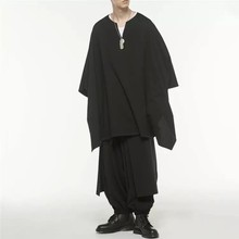 Men's Cape Coat Bat windbreaker long hoodie casual dark fashion handsome loose style spring and summer