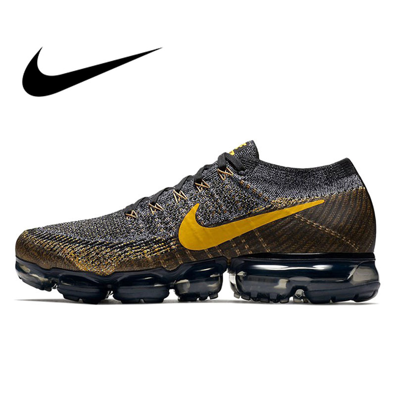 Original Nike Air VaporMax Flyknit Men's Running Shoes Sport Outdoor Sneakers Athletic Designer Footwear 2018 New Arrival 849558
