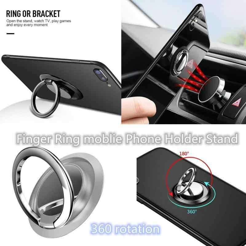 Mini Anello di Barretta Flessibile moblie Del Telefono Del Supporto Del Basamento 360 di rotazione per Auto Magnetico Impugnatura In Metallo funziona con il magnete supporto da auto per iphone