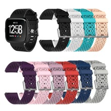1Pcs Soft Silicone Replacement Sport Wristband Watch Band Strap for Fitbit Versa Bracelet Wrist Watchband Colorful S L Size colorful silicone replacement sport wristband watch band strap for fitbit versa band smart bracelet wrist strap s l size