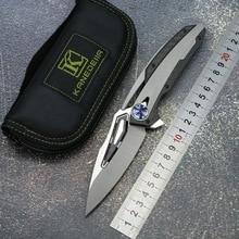 Kanedeiia ZT0999 M390 ostrze TC4 titanium CF uchwyt składany nóż narzędzie camping polowanie survival kieszeń taktyki noże narzędzie EDC