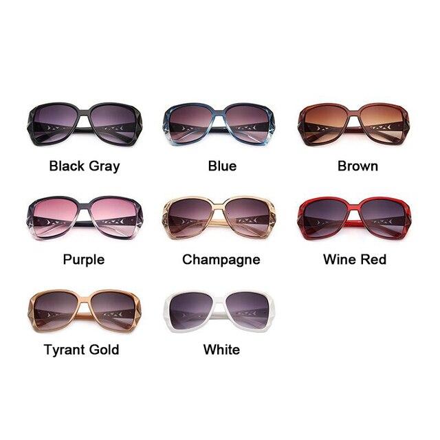 Fashion Square Sunglasses Luxury Brand Big Purple  5