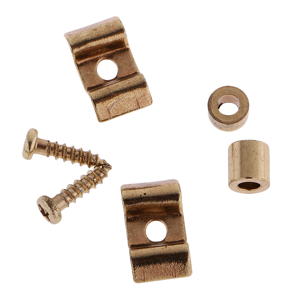 Set Of 2 Metal Guitar String Tree Retainers For Stratocaster Squier Electric Guitar