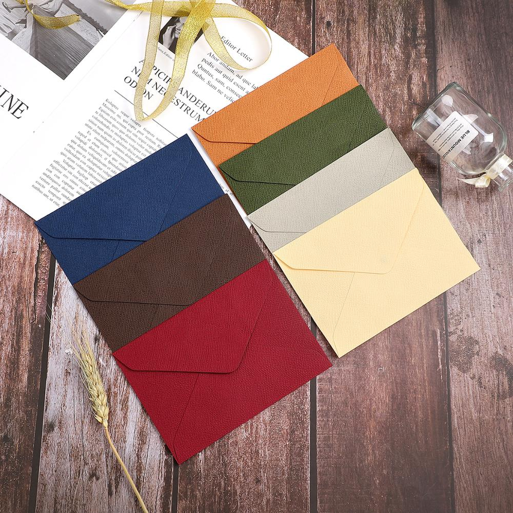 10pcs/set Retro Colored Blank Kraft Paper Envelopes Party Invitation Envelope Specialty Paper Greeting Cards Gift Envelope