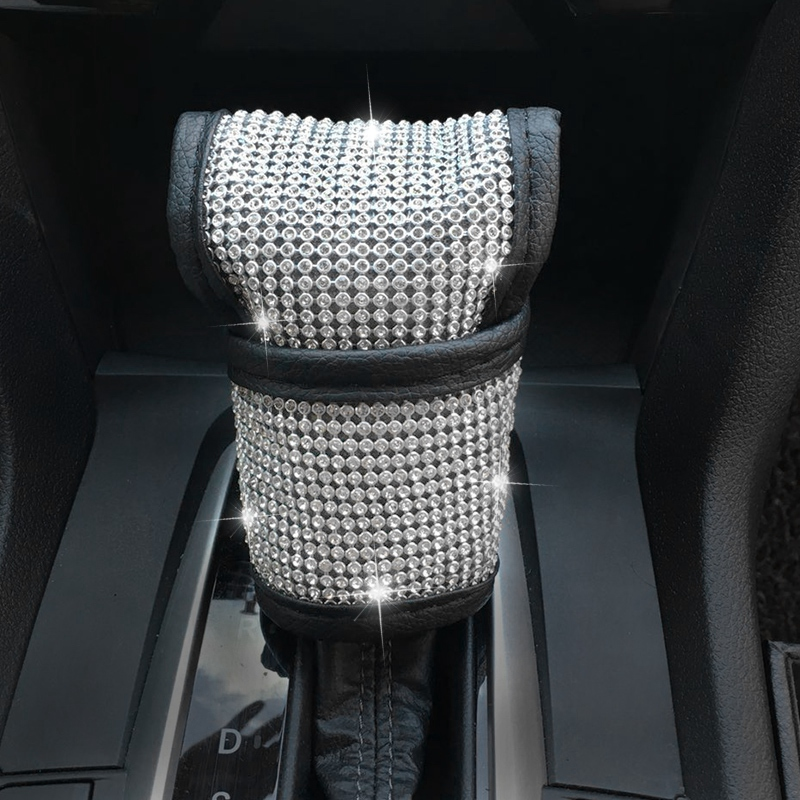 Auto Safety Door Handle Cover, Luster Crystal Car Protective Handle Cover Diamond Car Decor Accessories