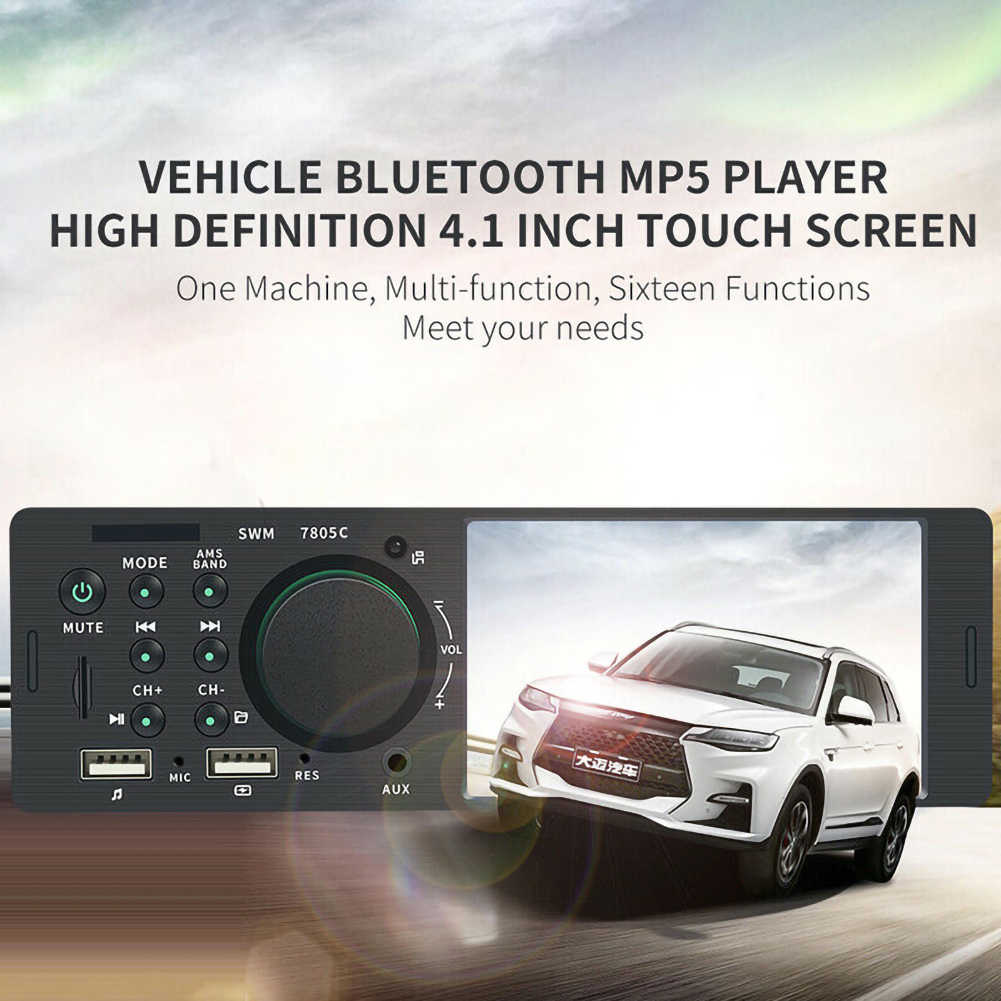 4.1 بوصة HD 1 الدين راديو السيارة ستيريو شاشة تعمل باللمس Autoradio استبدال WMA بلوتوث في اندفاعة MP5 Udisk راديو ستيريو بالسيارة المزدوج USB
