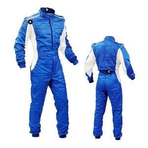 Image 4 - Costume de course de voiture, quatre couleurs, double couche, coupe vent, costume de course pour kart, pour motocycliste
