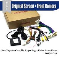 Car Front View camera Parking System For Toyota Corolla E140 E150 E160 E170 E210 CANBUS Original Screen AUTO Rear Reverse CAM