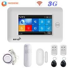 3G GSM WIFI Беспроводная 433 МГц система охранной сигнализации приложение управление Умный дом Все сенсорный экран smartlife GPRS беспроводные наборы сигнализации