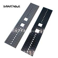 Smartable 列車トラック床 6X28 ベースプレート moc 部品ビルディングブロックのおもちゃ互換性の主要なブランド市 92339 4093 2 ピース/セット