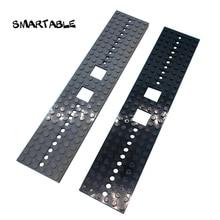 Smartable tren kamyon zemin 6X28 taban plakası MOC parçaları yapı blok oyuncaklar uyumlu büyük markalar City 92339 4093 2 adet/takım