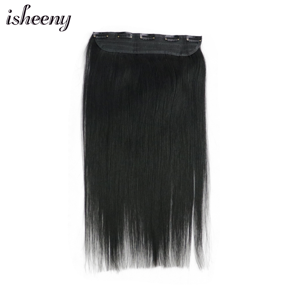 80g 90g 100g Remy Hair One Piece Set 5 Clip-in 100% Human Hair Extensions Natural Straight Hair 14