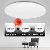 Luces LED de techo para habitación, plafón Natural, blanco frío, cálido, 15W, 20W, 30W, 50W, lámparas de techo para iluminación de sala de estar