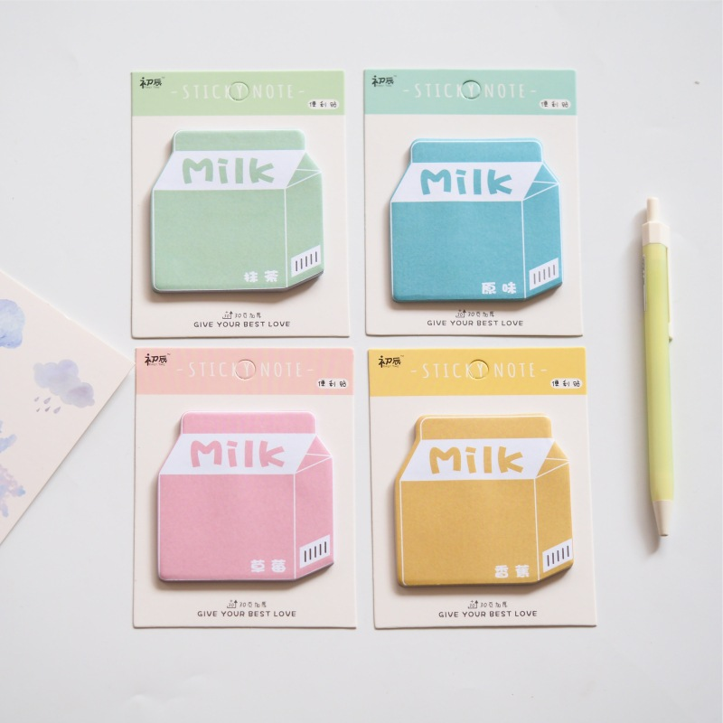 Colorful Milk Memo Pad N Times Sticky Notes Escolar Papelaria School Supply Bookmark Label