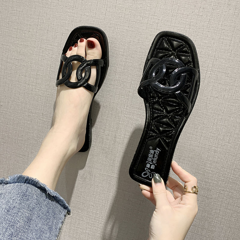 2020 New Summer Sandals Female Outer Wear Fashion Casual And Comfortable Wild Household Non-Slip Beach Web-Red Slippers Female