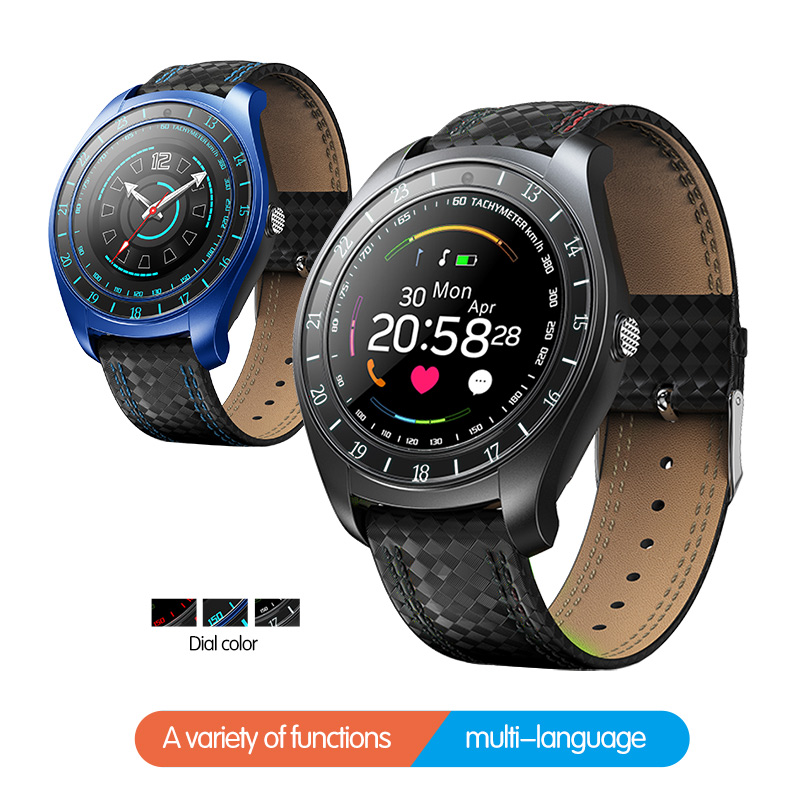 Men smart watch android sim Camera waterproof blood pressure heart rate fitness smartwatch bluetooth music sport watch image
