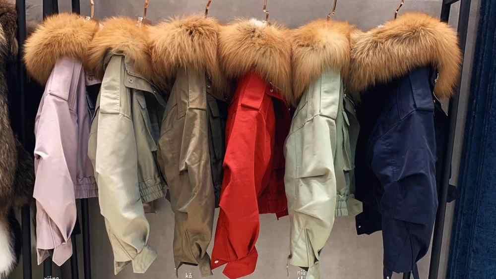 Maylofuer gerçek kırmızı tilki kürk ceket kadın kısa uçan takım elbise kapşonlu gümüş tilki, çapraz tilki, altın ada tilki saç yaka. 2 uzunlukları