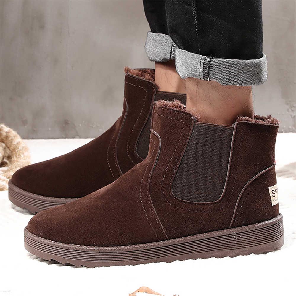 PUPUDA Winter Schuhe Männer Klassische Schnee Stiefel Comfy Günstige Stiefeletten Männer Gute Qualität Chelsea Stiefel Männer High Top Casual schuhe Männlichen