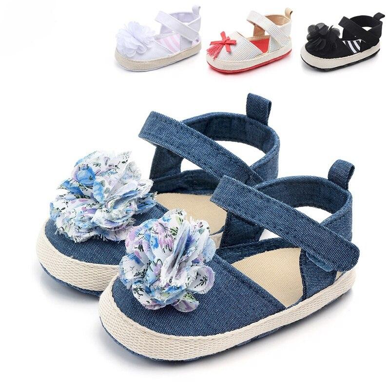 Newborn Shoes Sweet Light Flower Spring Summer Baby Girl First Walker Toddler Soft Soled Pram Crib Shoe 2019