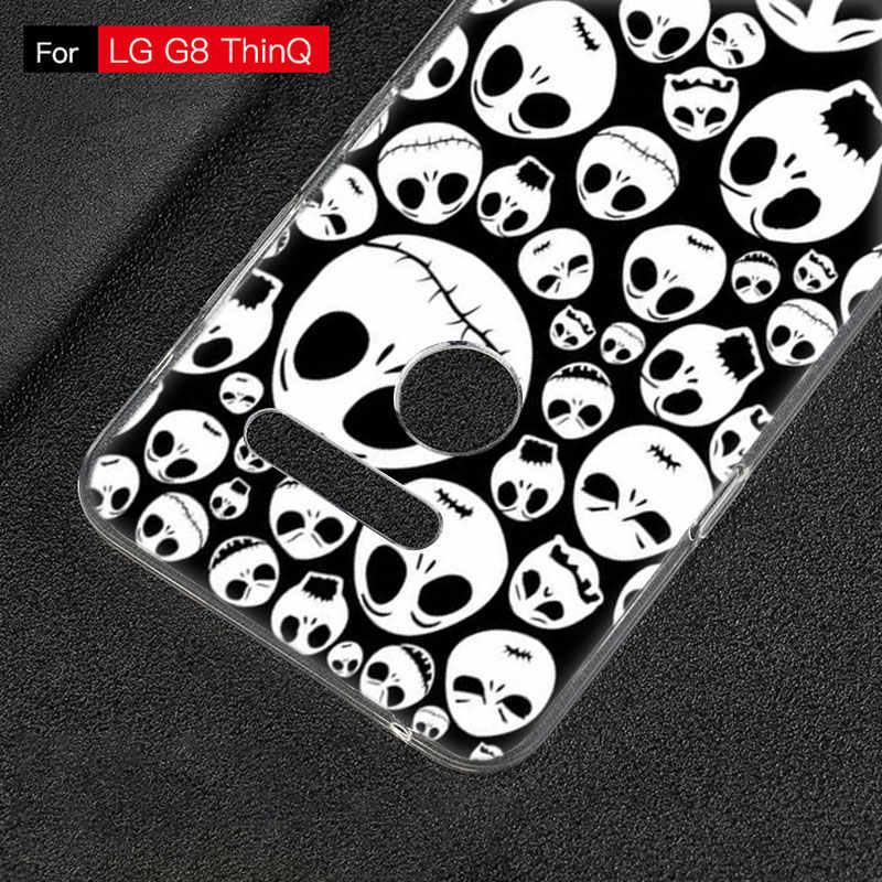 Jack skellington Weichen Fall Für LG G5 G6 Mini G7 G8 G8S V20 V30 V40 V50 ThinQ Q6 Q7 Q8 q9 Q60 W10 W30 Aristo 2 X Power 2 3 Abdeckung