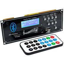 LEORY Car bluetooth Audio Decoder Board MP3 Player Decoding Module with USB Aux DIY for Amplifiers Board Home Theater