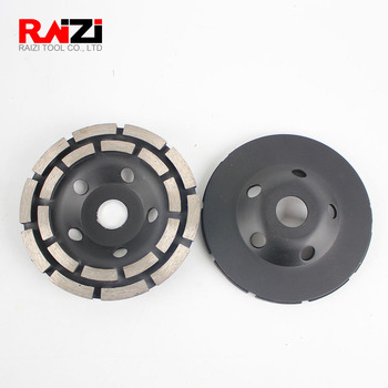 Raizi 5 inch/125mm Diamond Grinding Disc for Concrete Terrazzo Double Row Segment Abrasives Cutting Saw grinder Cup Wheel 5 inch 125mm single row cup wheel for concrete grinding disc grinding wheel bore 22 23mm