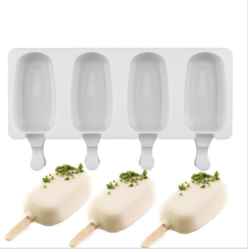 Силиконовая форма для мороженого, 4 ячейки, форма для мороженого, для детей, поп-форма, лоток для мороженого на палочке, силиконовые формы для...