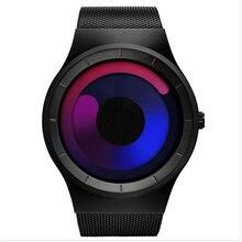 Мужские кварцевые часы с сетчатым браслетом водонепроницаемые