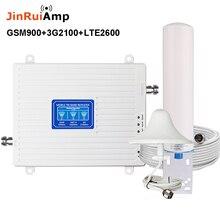 2 グラム 3 グラム 4 グラムトライバンド信号ブースター GSM 900 + (B1) WCDMA 2100 + (B7) FDD LTE 2600 携帯電話の信号リピータ携帯携帯アンプキット
