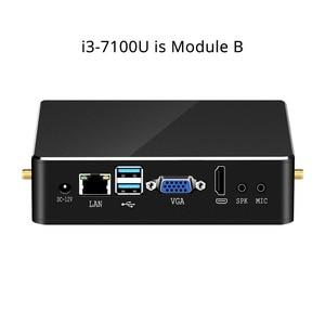 Image 5 - BEBEPC Mini PC Intel Core i7 6567U 7500U i3 7100U i5 7200U 4K HD graphique 620 HDMI WiFi refroidisseur ventilateur ordinateur de jeu de bureau