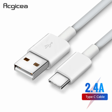 USB Type C Cable For Samsung Galaxy S9 S8 Plus Fast Charging Data Cable For Oneplus 6t Huawei Mobile Phone Charger USB C Cables