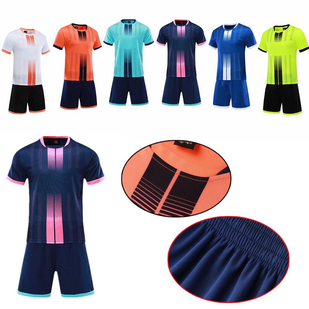 Custom Adult Kids Boys Football Jersey Set Men Futbol Training Uniform Suits Soccer Tracksuit Shirt Shorts