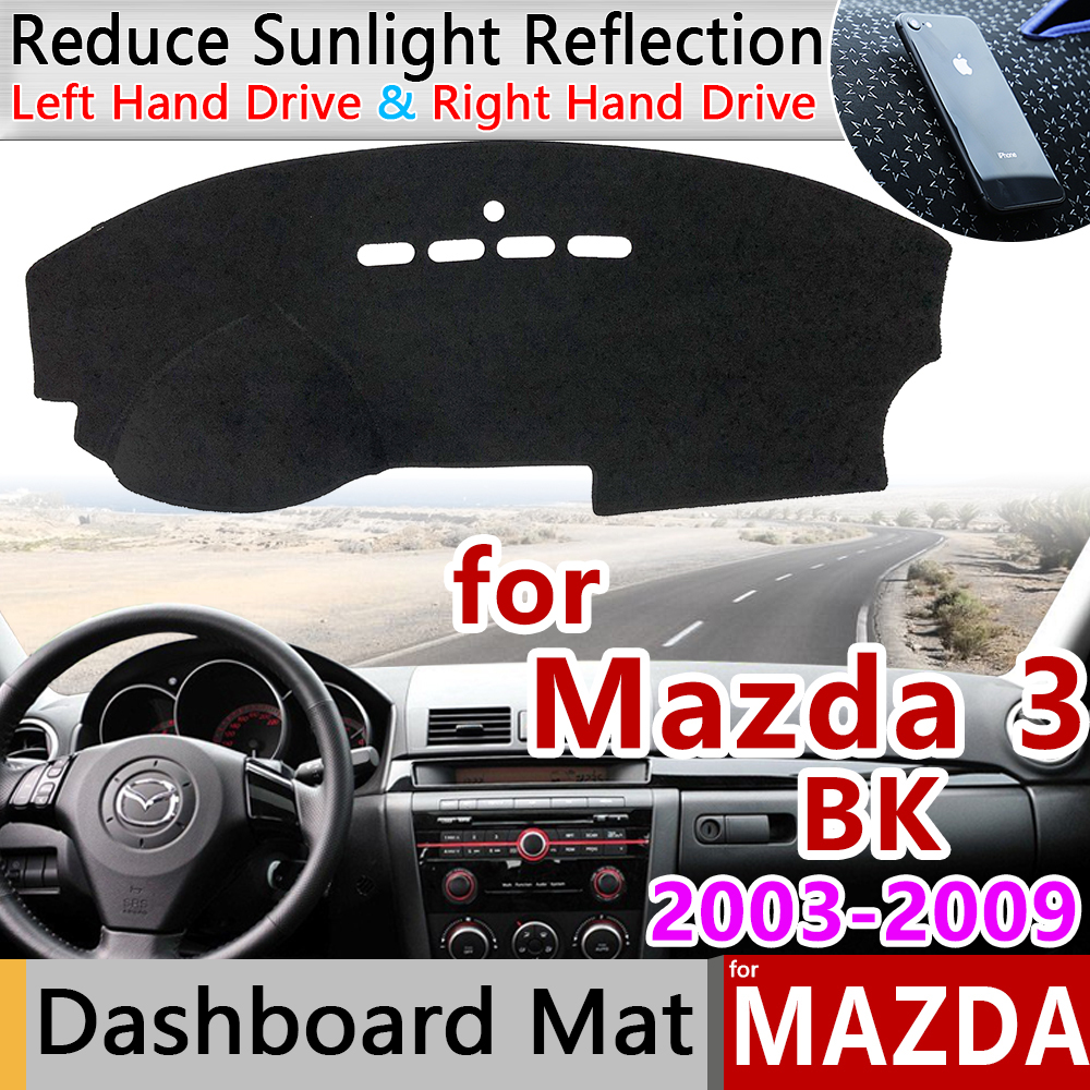 for Mazda 3 BK 2003 2004 2005 2006 <font><b>2007</b></font> 2008 2009 MK1 Anti-Slip Mat Dashboard Cover Pad Sunshade Dashmat Accessories for <font><b>Mazda3</b></font> image