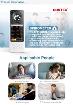 2021 najnowszy spirometr ręczny cyfrowy szczyt przepływomierz bluetooth tester dla funkcji objętości płuc tanie i dobre opinie CONTECMED Z Chin Kontynentalnych SP80B Elektroniczne urządzenie do pomiaru tętna