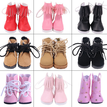Doll Shoes Boots 5 Cm High-top PU Shoes For 14.5 Inch Nancy American Paola Reina Doll&BJD EXO Doll Boots Generation Girl`s Toy