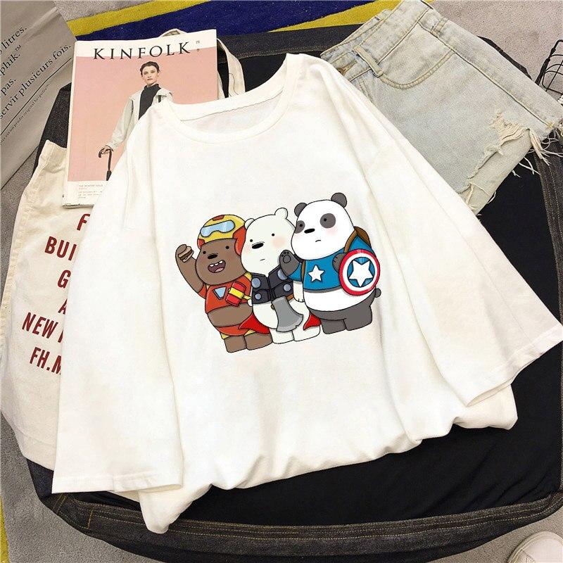 New-Harajuku-Kpop-Female-Tshirt-We-Naked-Bears-Print-Short-Sleeve-Tops-Tees-Fashion-Casual-T