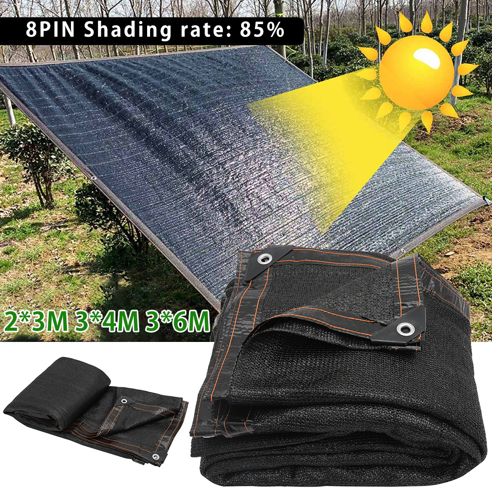<font><b>Outdoor</b></font> Sunshade Net HDPE Anti-UV 85% Shading Rate Garden Sunscreen Sunblock Shade Cloth Net Plant Greenhouse <font><b>Car</b></font> Cover Black image