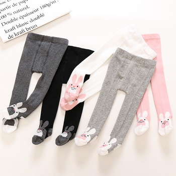 Baby Autumn Winter Tights Baby Toddler Kid Girl Stockings Cotton Warm Pantyhose Solid Cartoon Newborn Tight Infant Pantyhose