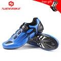 Sidebike углеродного волокна подошва дорожный Велосипеды обувь с SPD KEO обложки Сверхлегкий 430 г гоночный дорожный мотоцикл обувь мужские кроссо...