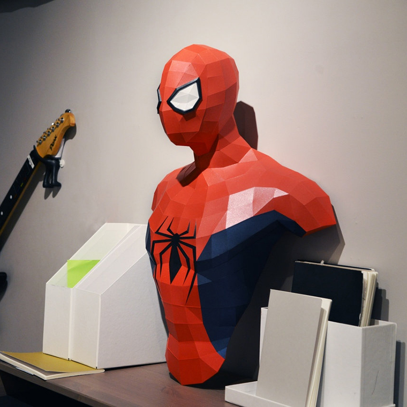 3D Paper Model Spiderman Papercraft Home Decor Wall Decoration Puzzles Educational DIY Kids Toys Birthday Gift 2635