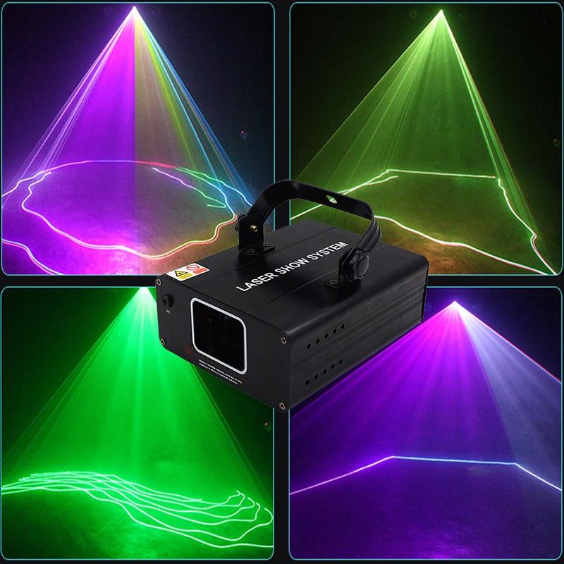 Dj RGB Laser 1Head Mini Disco Line Beam Scanner Lazer Stage Light Fog Machine Night Club KTV Bar