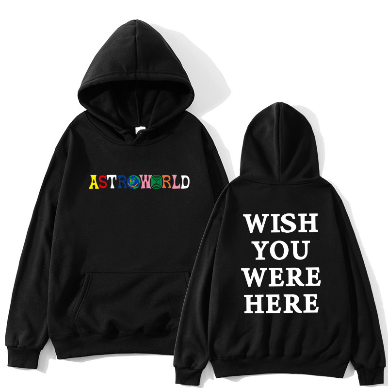TRAVIS SCOTT ASTROWORLD Hope You Are Here Fashion Women's Fashion Letters ASTROWORLD HOODIE Street Men's And Women's Hoodie Swea