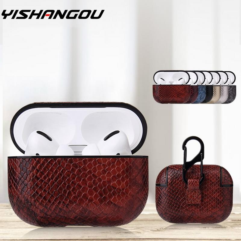 Sexy Snake Skin Bag Case For Apple AirPods Pro Bluetooth Wireless Earphone Leather Case For AirPods 1&2 Funda Charging Box Cases