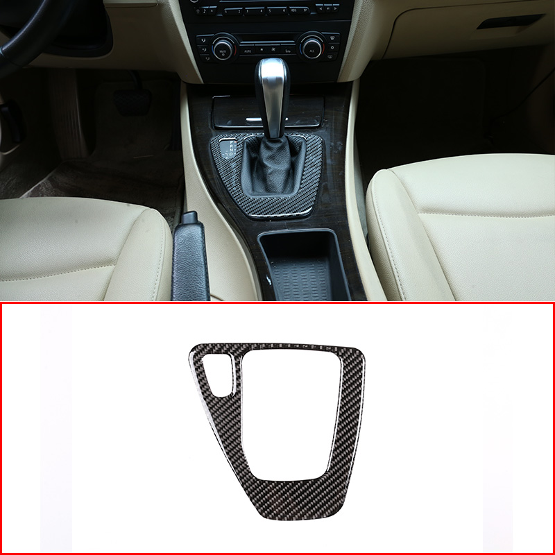LHD and RHD Soft Carbon Fiber For <font><b>BMW</b></font> 3 Series <font><b>E90</b></font> E92 E93 2005-2012 Car Center Console Gear Panel Stickers Trim Accessories image