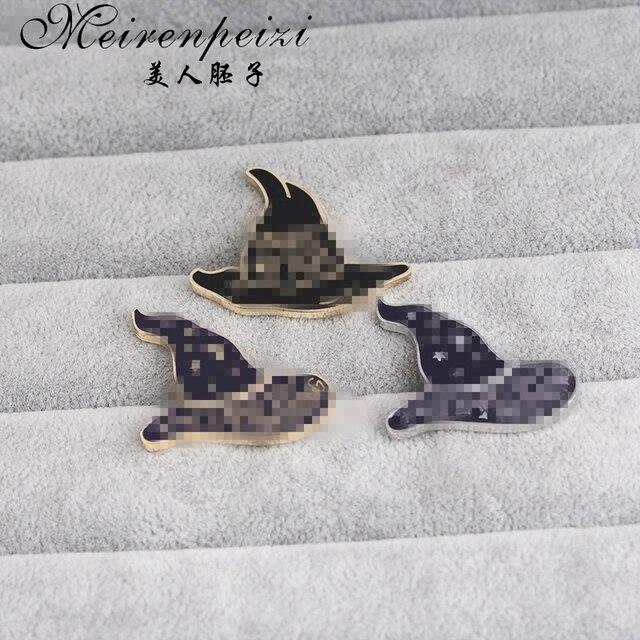 Эмалированная Брошь булавка для письма шляпы волшебный страшный